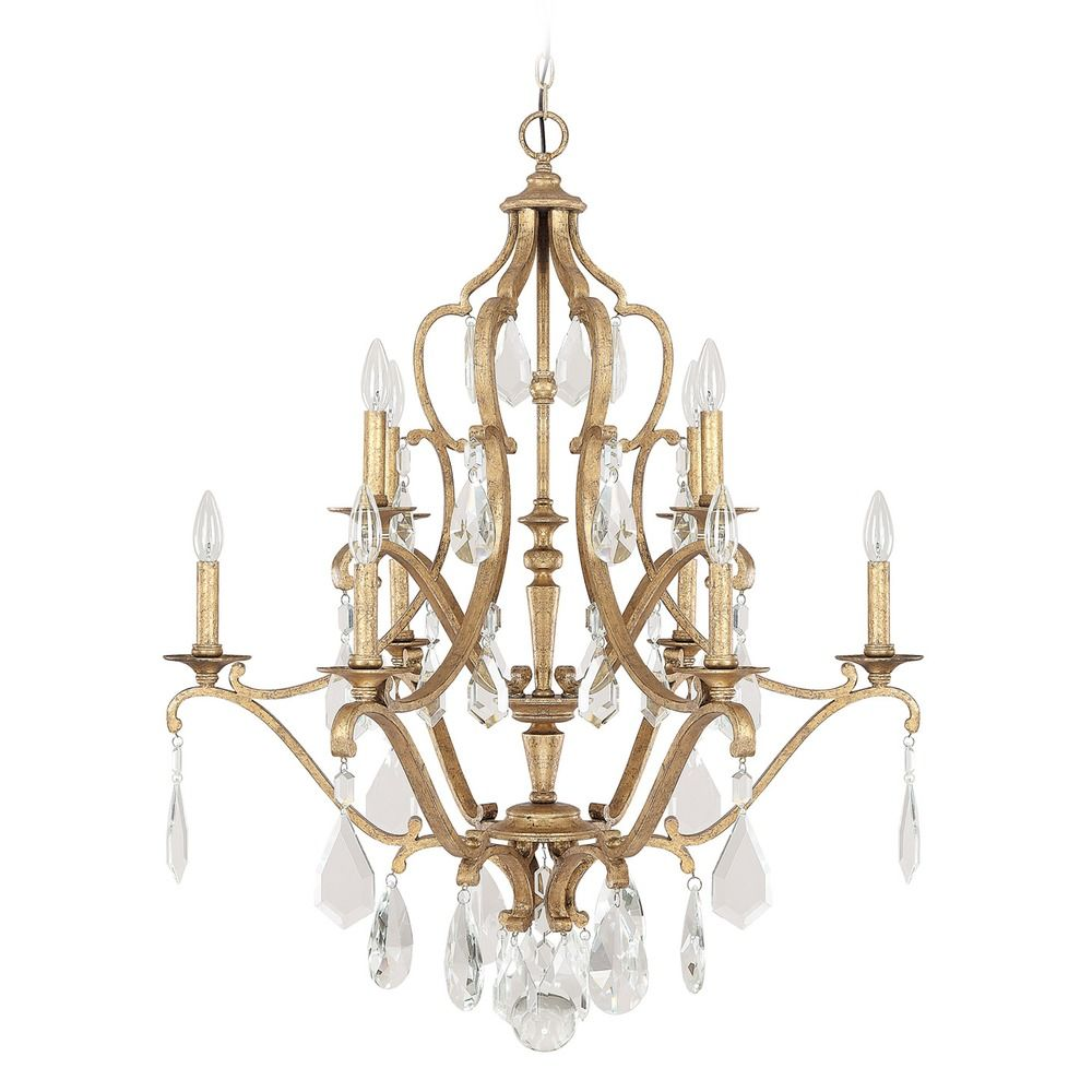 Crystal Chandelier Old: Capital Lighting Blakely Antique Gold Crystal Chandelier