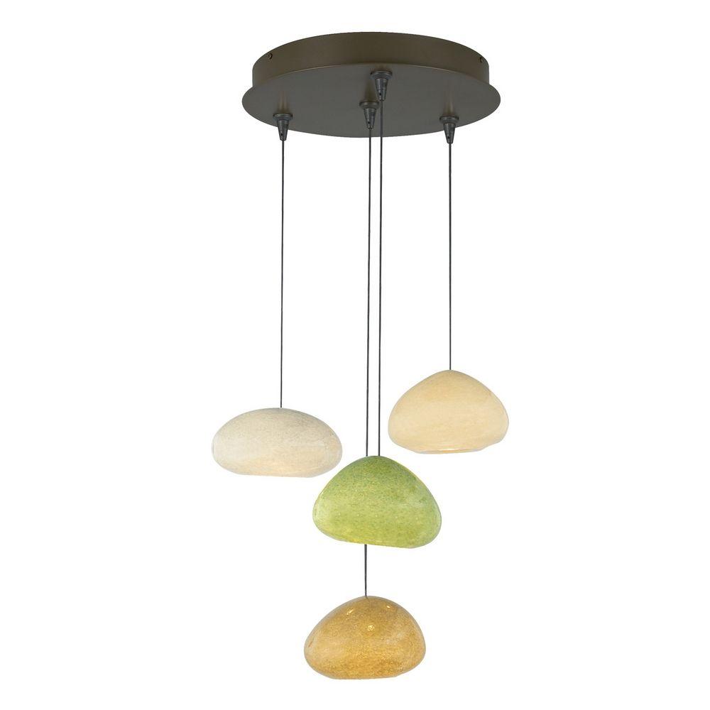 Modern multi light pendant light with multi color glass - Colored glass pendant lights ...