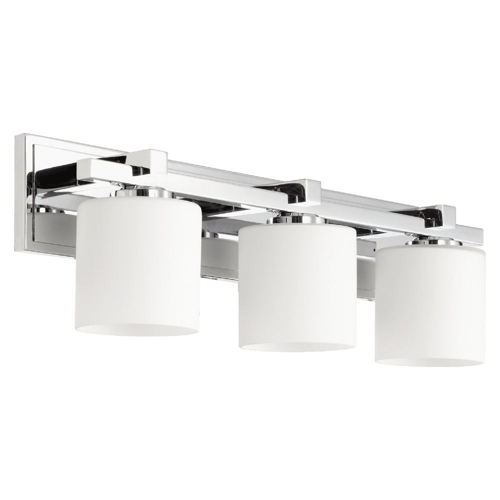 Chrome Bathroom Light quorum lighting chrome bathroom light | 5369-3-14 | destination