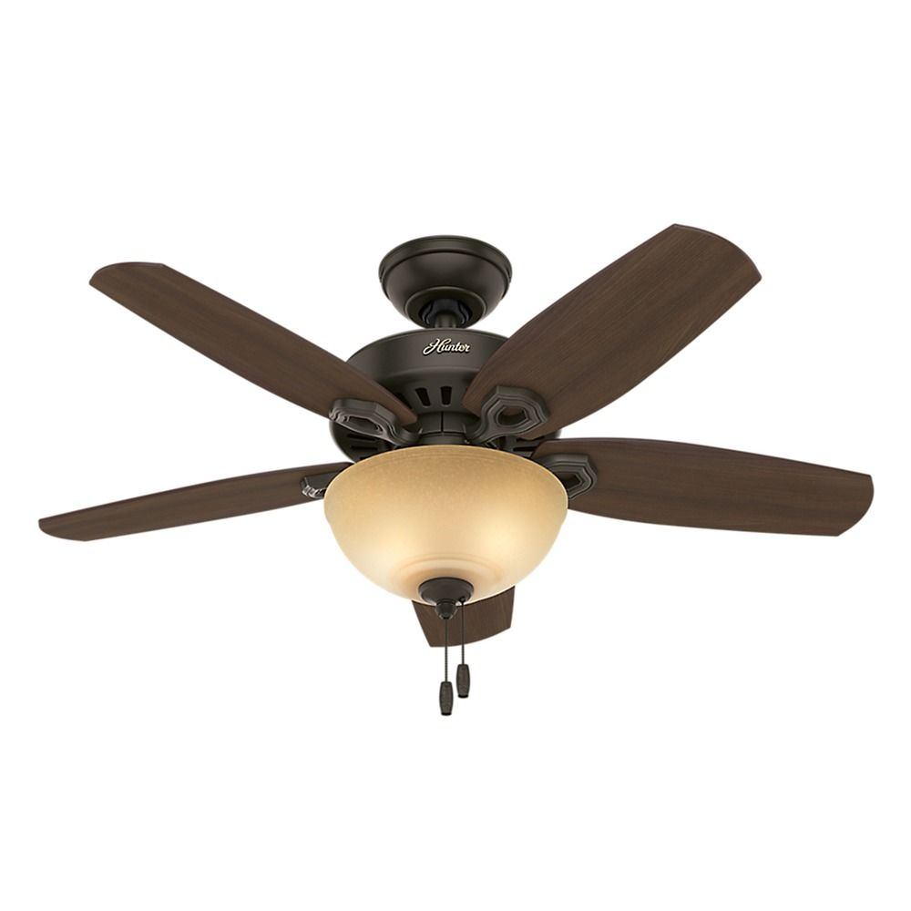 42 inch hunter fan builder small room ceiling fan with light new bronze finish 52218. Black Bedroom Furniture Sets. Home Design Ideas