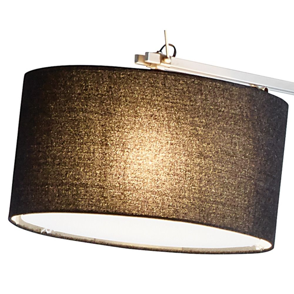 adesso home suffolk brushed steel arc lamp with drum shade 5