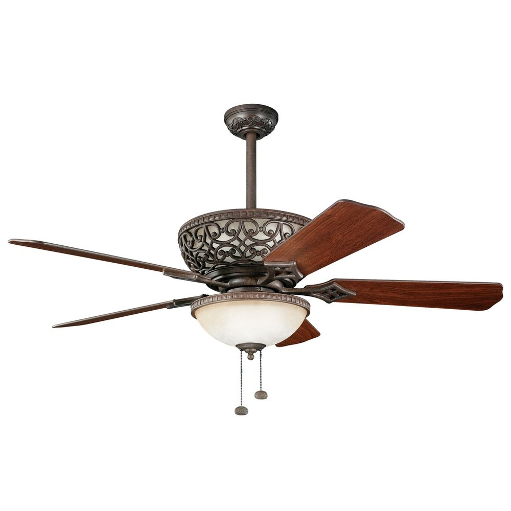 kichler 52 inch ceiling fan with integrated uplight 300113tz