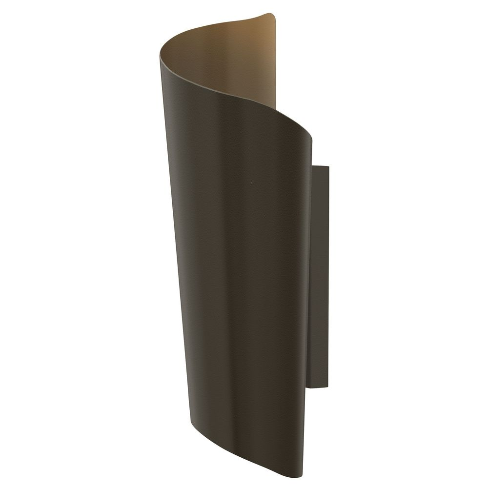 Outdoor Wall Lights Types: Modern LED Outdoor Wall Light In Bronze Finish