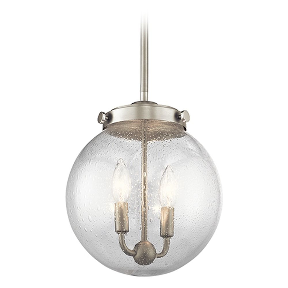 kichler lighting holbrook mini pendant light with globe shade 42588ni destination lighting. Black Bedroom Furniture Sets. Home Design Ideas