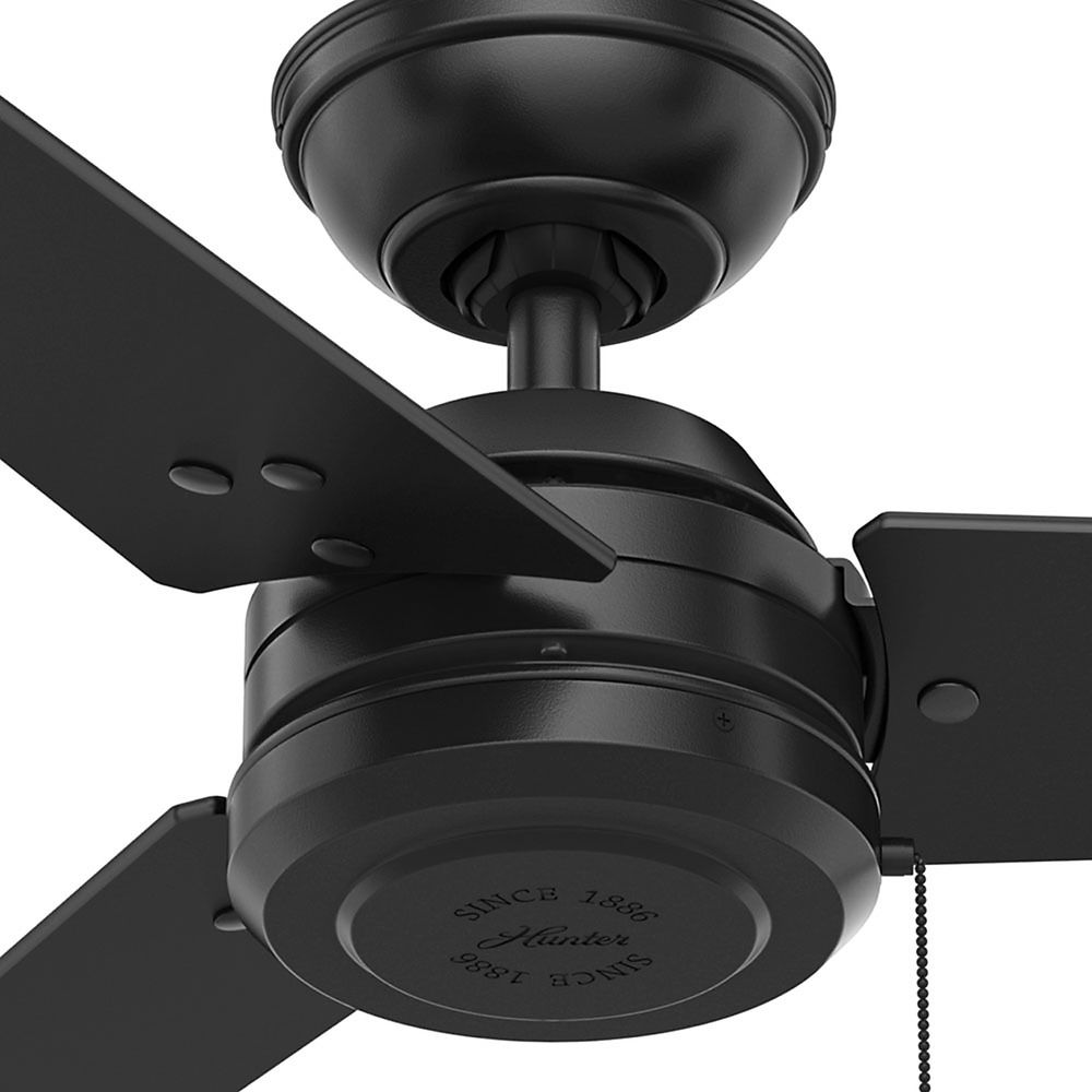 hunter ceiling fans without lights. Hunter Fan Company Cassius Matte Black Ceiling Without Light Alt3 Fans Lights :