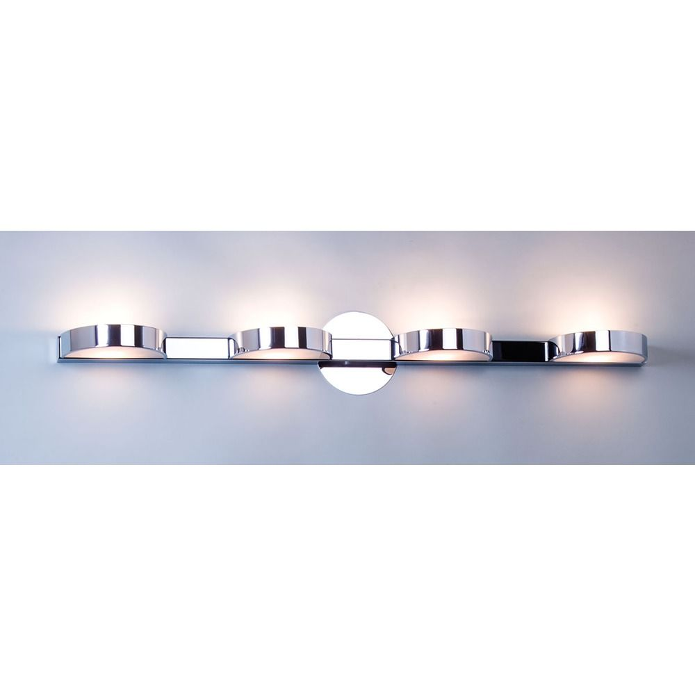 illuminating experiences h chrome bathroom light  hc  - product image