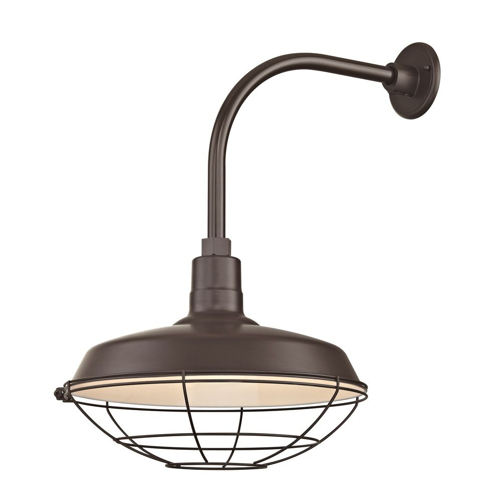 Gooseneck Wall Lights : Bronze Outdoor Barn Wall Light with Gooseneck Arm and 16