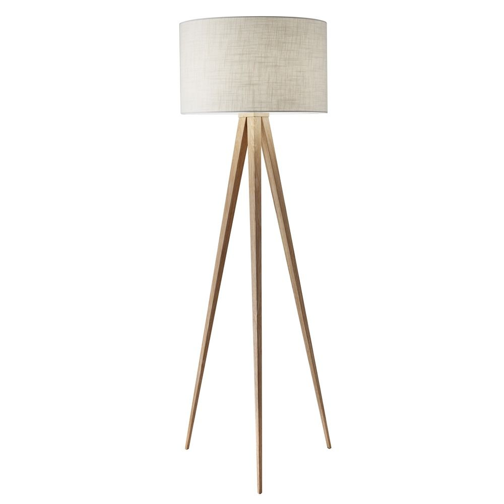 Adesso Home Lighting Mid Century Modern Floor Lamp Wood Director By Adesso  Home Lighting 6424. Hover Or Click To Zoom