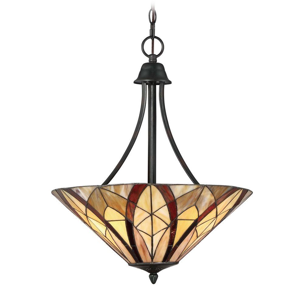 Quoizel Lighting Victory Valiant Bronze Pendant Light With