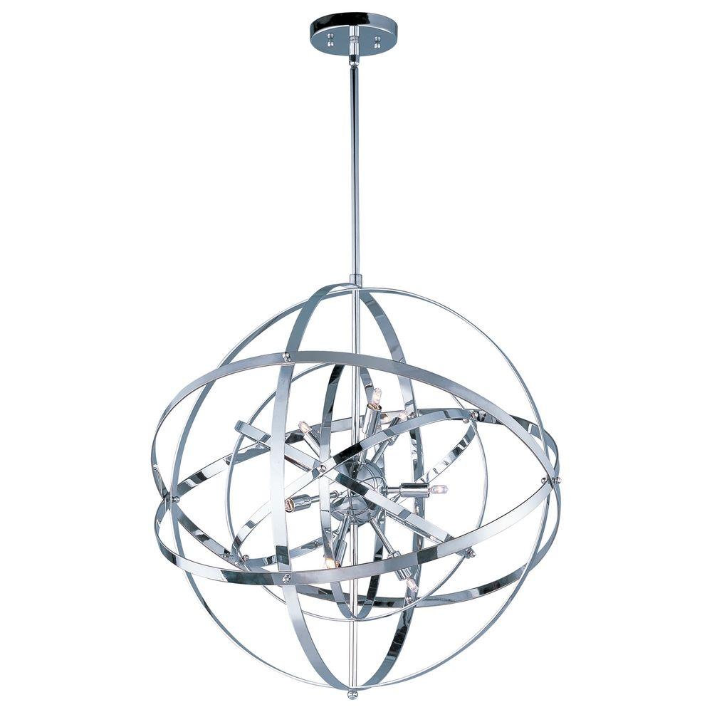 Mid Century Modern Pendant Cer Light Chrome Sputnik By Maxim Lighting Alt1
