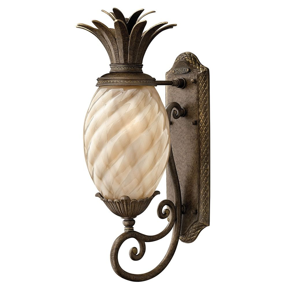 22 inch pearl bronze pineapple led outdoor wall light 2700k 900lm at destination lighting