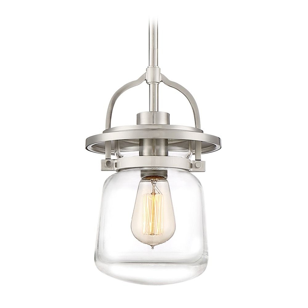 Country Cottage Pendant Light Brushed Nickel Lasalle By Quoizel Lighting At Destination