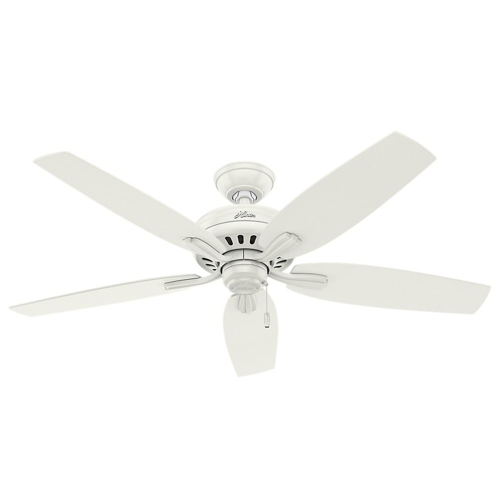 Hunter Fan Company Newsome Fresh White Ceiling Without Light Parts Department 53322