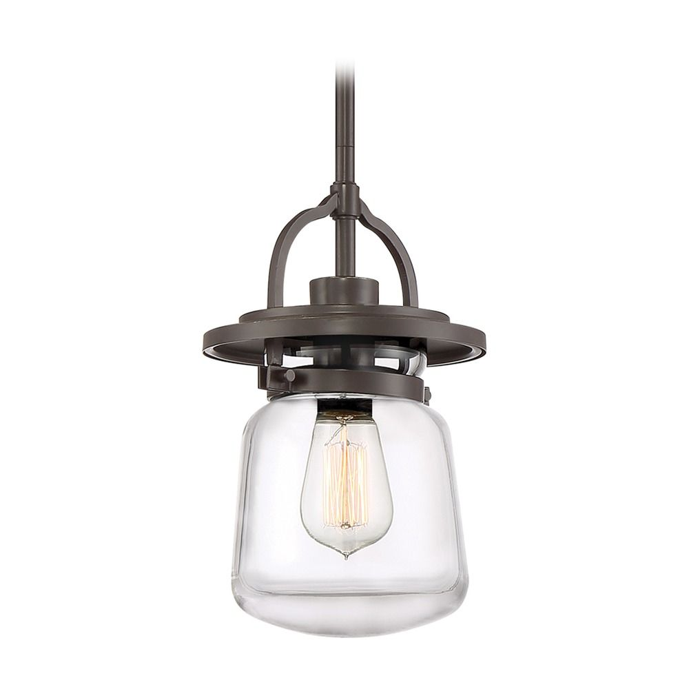 Country Cottage Pendant Light Bronze Lasalle By Quoizel Lighting At Destination