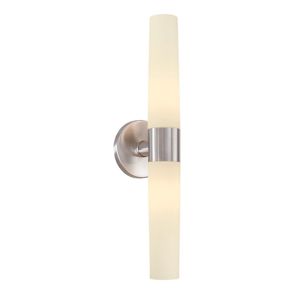 Stainless steel bathroom lights - Shown In Brushed Stainless Steel Finish Product Image