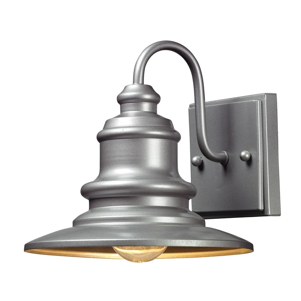 Silver Picture Wall Lights : Outdoor Wall Light in Matte Silver Finish 47020/1 Destination Lighting