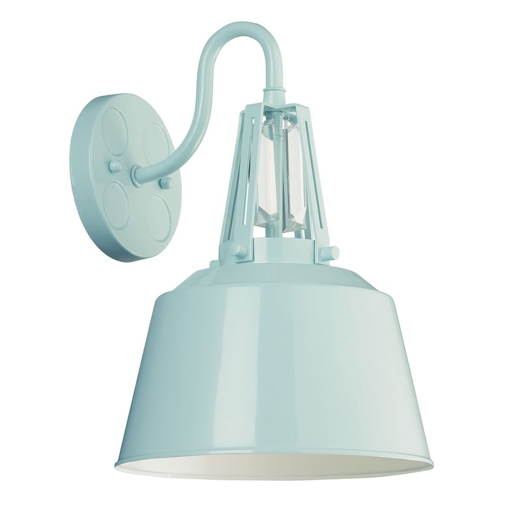 Blue Bathroom Wall Sconces : Feiss Lighting Freemont Hi Gloss Blue Sconce WB1726SHBL Destination Lighting