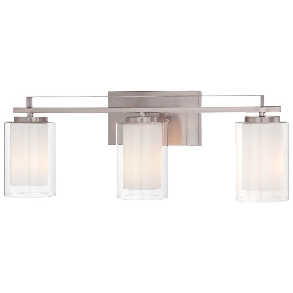 Minka Parsons Studio Brushed Nickel Bathroom Light 6103 84