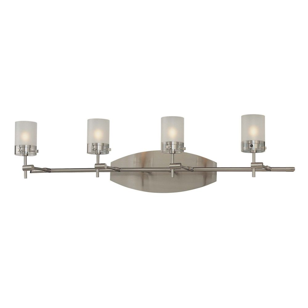 bathroom lighting brushed nickel finish modern bathroom light with white glass in brushed nickel 22181