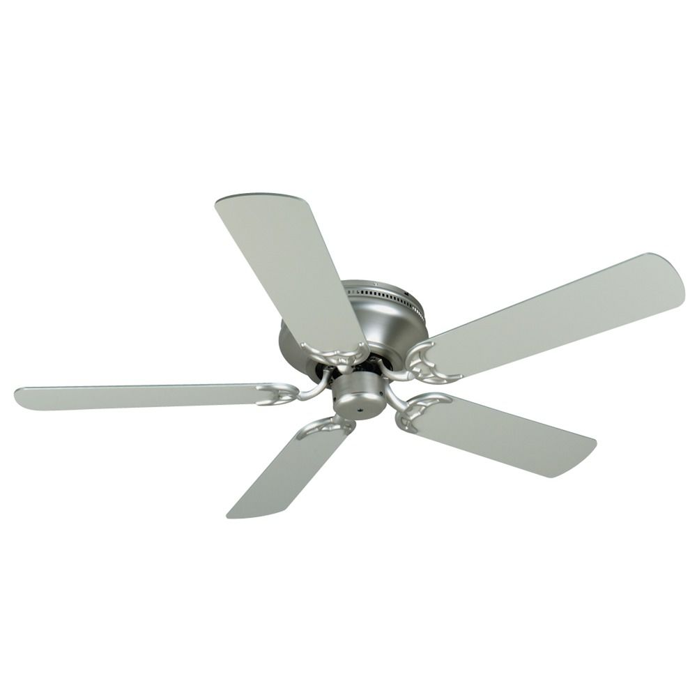 Craftmade Lighting Pro Contemporary Flushmount Brushed Satin Nickel Ceiling Fan Without Light At Destination Lighting