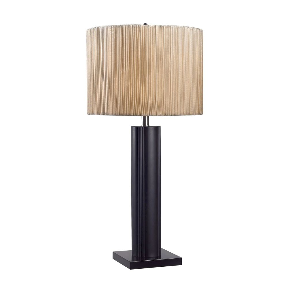 kenroy home lighting modern table lamp with taupe shade in. Black Bedroom Furniture Sets. Home Design Ideas