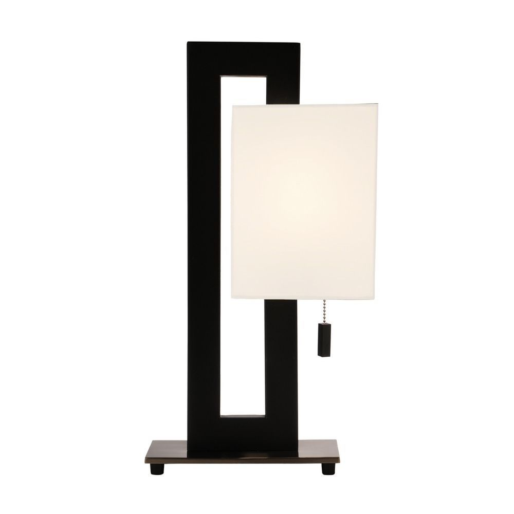 20 Inch Tall Modern Rectangle Table Lamp 801 Bk 09