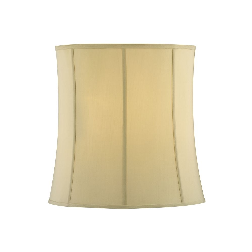 Drum Lamp Shades : Cream silk drum lamp shade with deep spider assembly