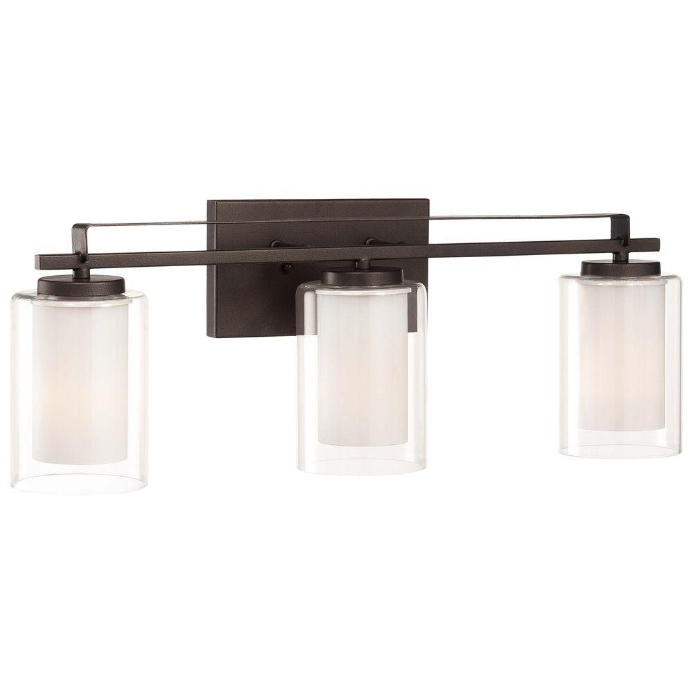 Minka Parsons Studio Smoked Iron Bathroom Light - Minka bathroom light fixtures