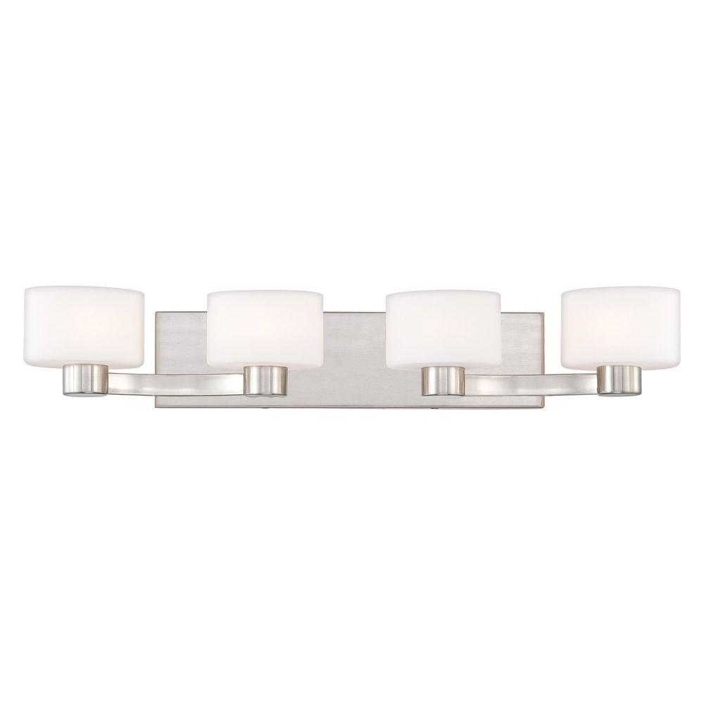 quoizel lighting tatum brushed nickel bathroom light. Black Bedroom Furniture Sets. Home Design Ideas