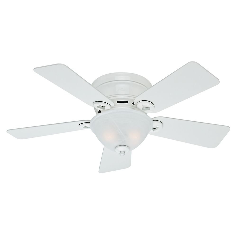 42 Inch Hunter Fan Conroy Snow White Ceiling Fan With