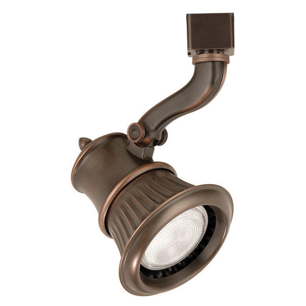 Custom Flexible Track Lighting: WAC Lighting Antique Bronze Track Light For J-Track