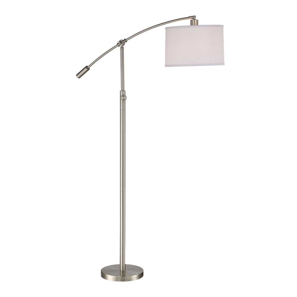 lighting clift brushed nickel floor lamp with drum shade cft9364bn. Black Bedroom Furniture Sets. Home Design Ideas