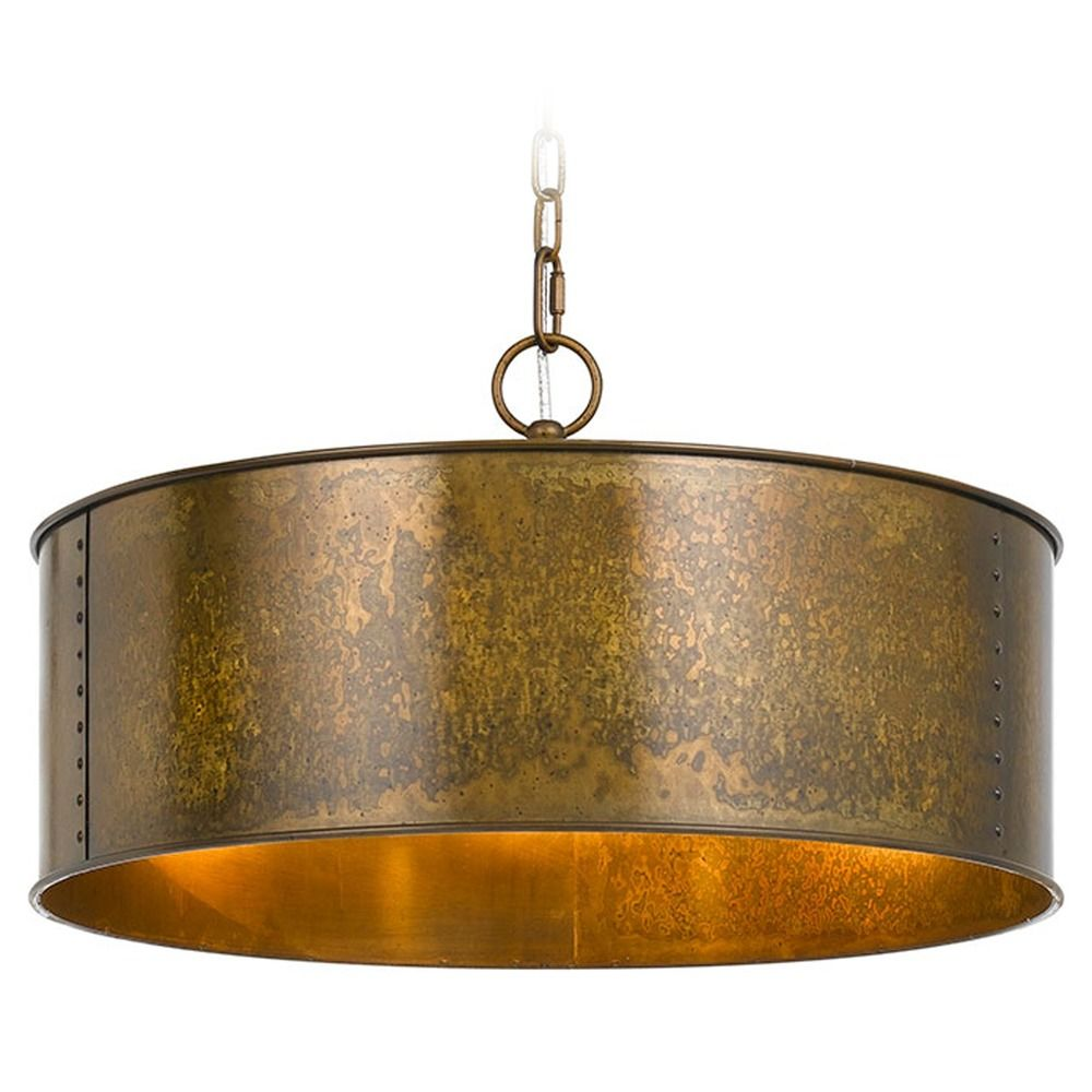 Cal Lighting Rochefort Distress Gold Pendant Light With