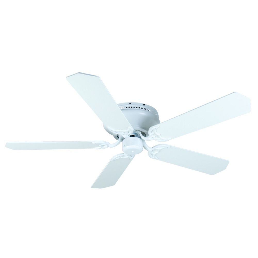 Craftmade Lighting Pro Contemporary Flushmount White Ceiling Fan Without Light At Destination Lighting