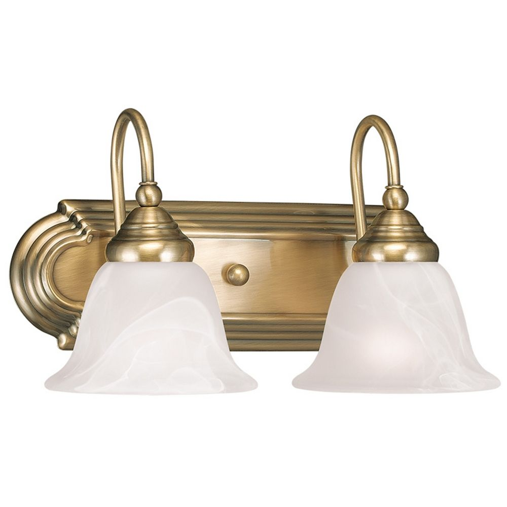 Elk Lighting Belmont: Livex Lighting Belmont Antique Brass Bathroom Light