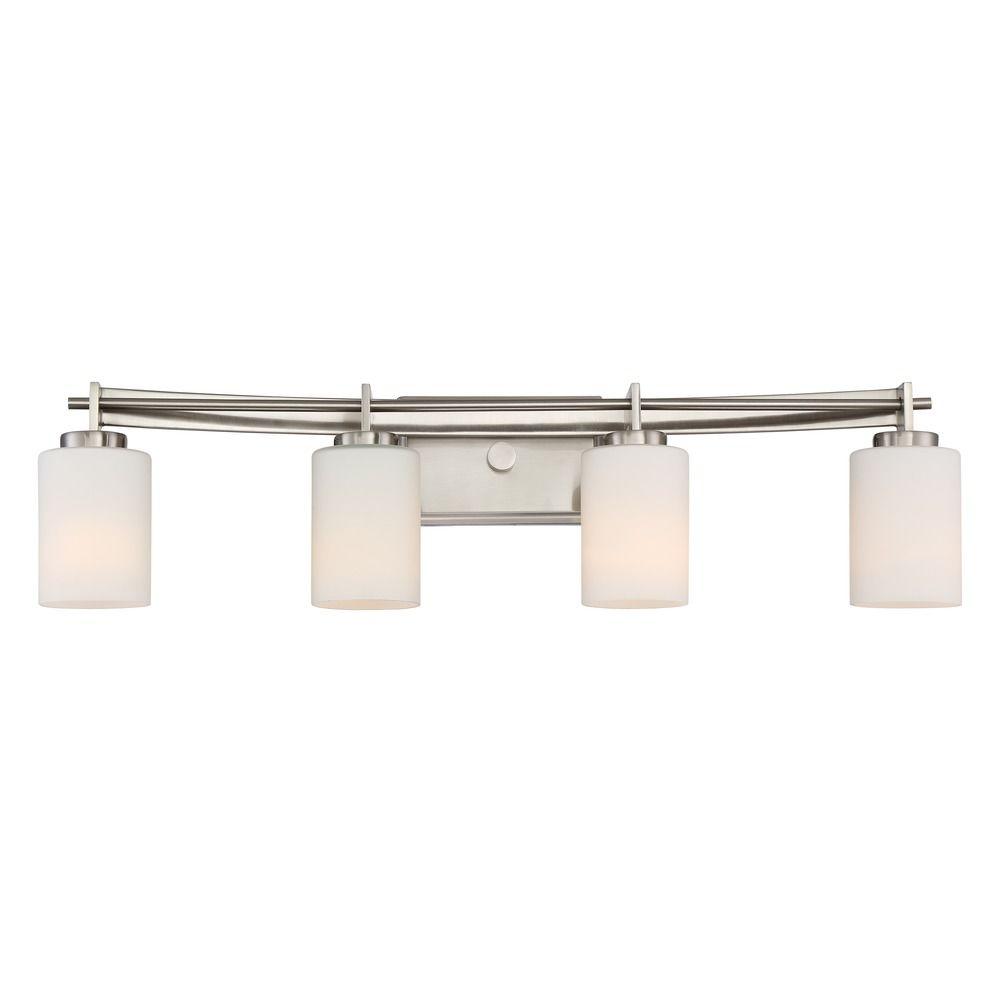 Quoizel lighting taylor brushed nickel bathroom light for Quoizel bathroom lighting