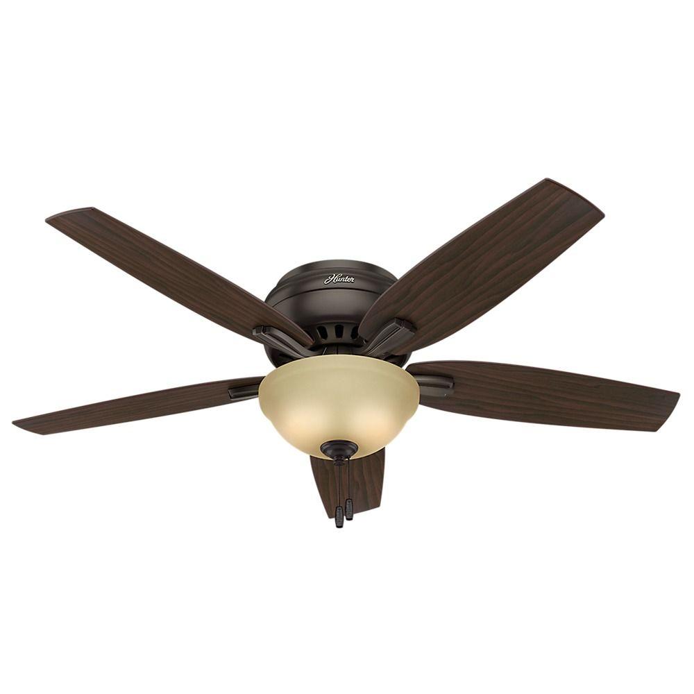 52 Inch Hunter Fan Newsome Premier Bronze Ceiling Fan With