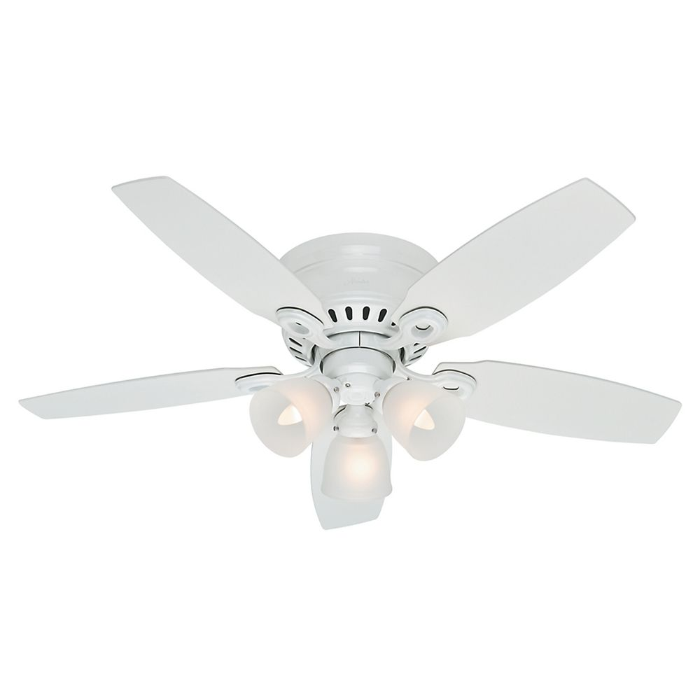 hunter fan company hatherton snow white ceiling fan with lig