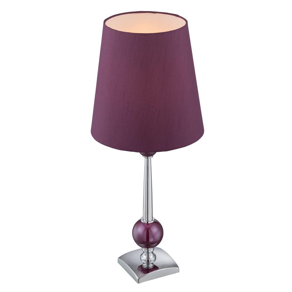 Lite source lighting ophira chrome plum purple table lamp for Floor lamp with plum shade