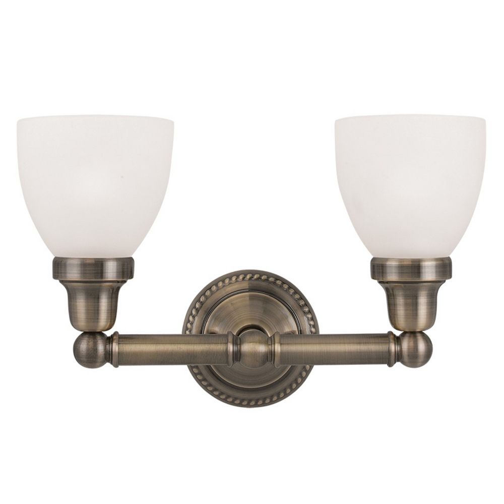 livex lighting classic antique brass bathroom light 1022 01 destination lighting. Black Bedroom Furniture Sets. Home Design Ideas