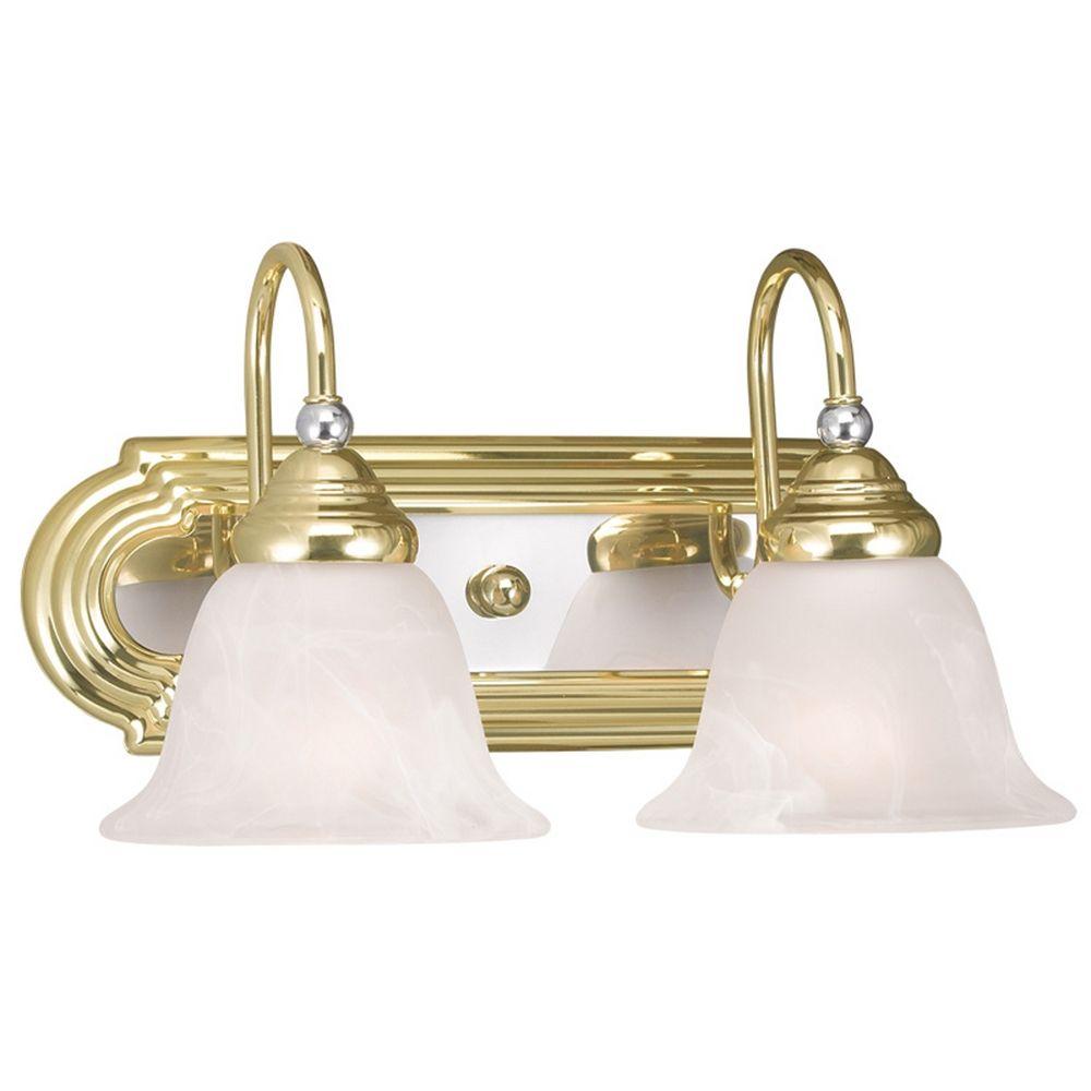 Livex Lighting Belmont Polished Brass Chrome Bathroom Light 1002 25 Destination Lighting