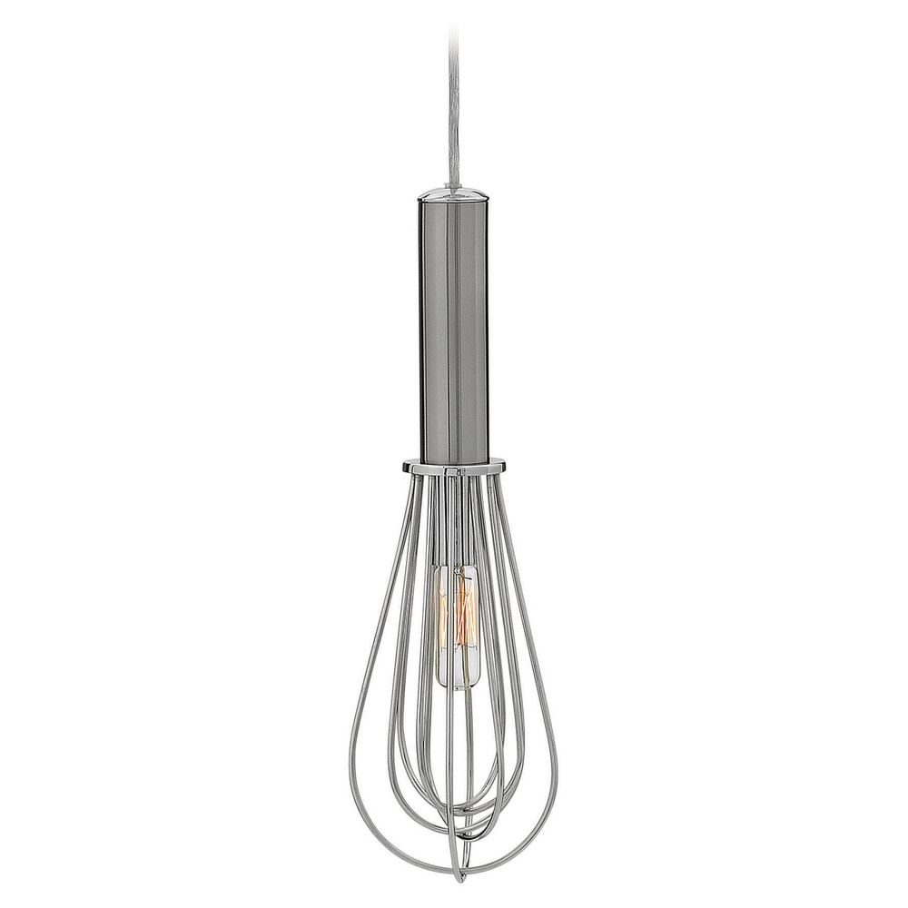 lighting hinkley lighting indulge brushed nickel mini pendant light