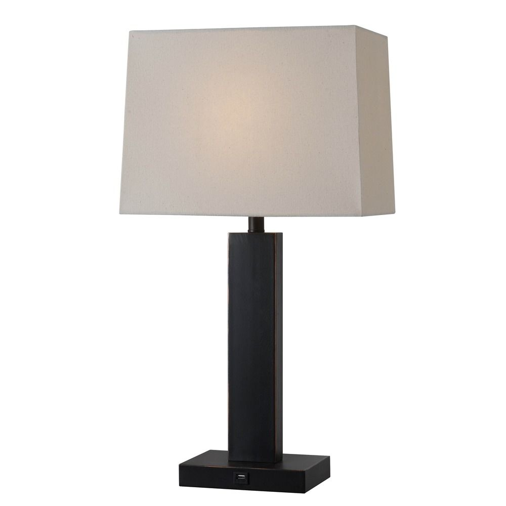 Kenroy Home Innkeeper Oil Rubbed Bronze Table Lamp With