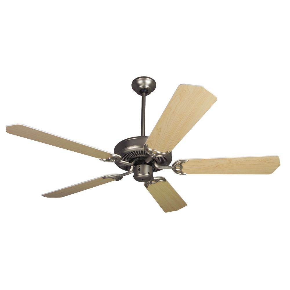 Ceiling Fan With Five Blades In Brushed Nickel Finish