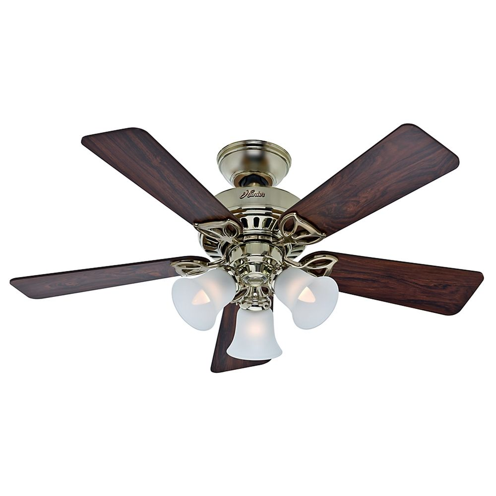 Ceiling Fans With Brightest Lights : Hunter fan company the beacon hill bright brass ceiling