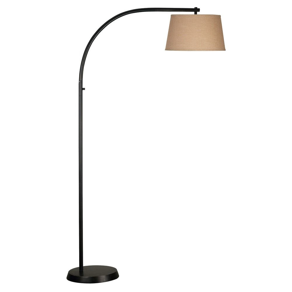 home lighting floor lamp with beige cream shade in oil rubbed bronze. Black Bedroom Furniture Sets. Home Design Ideas
