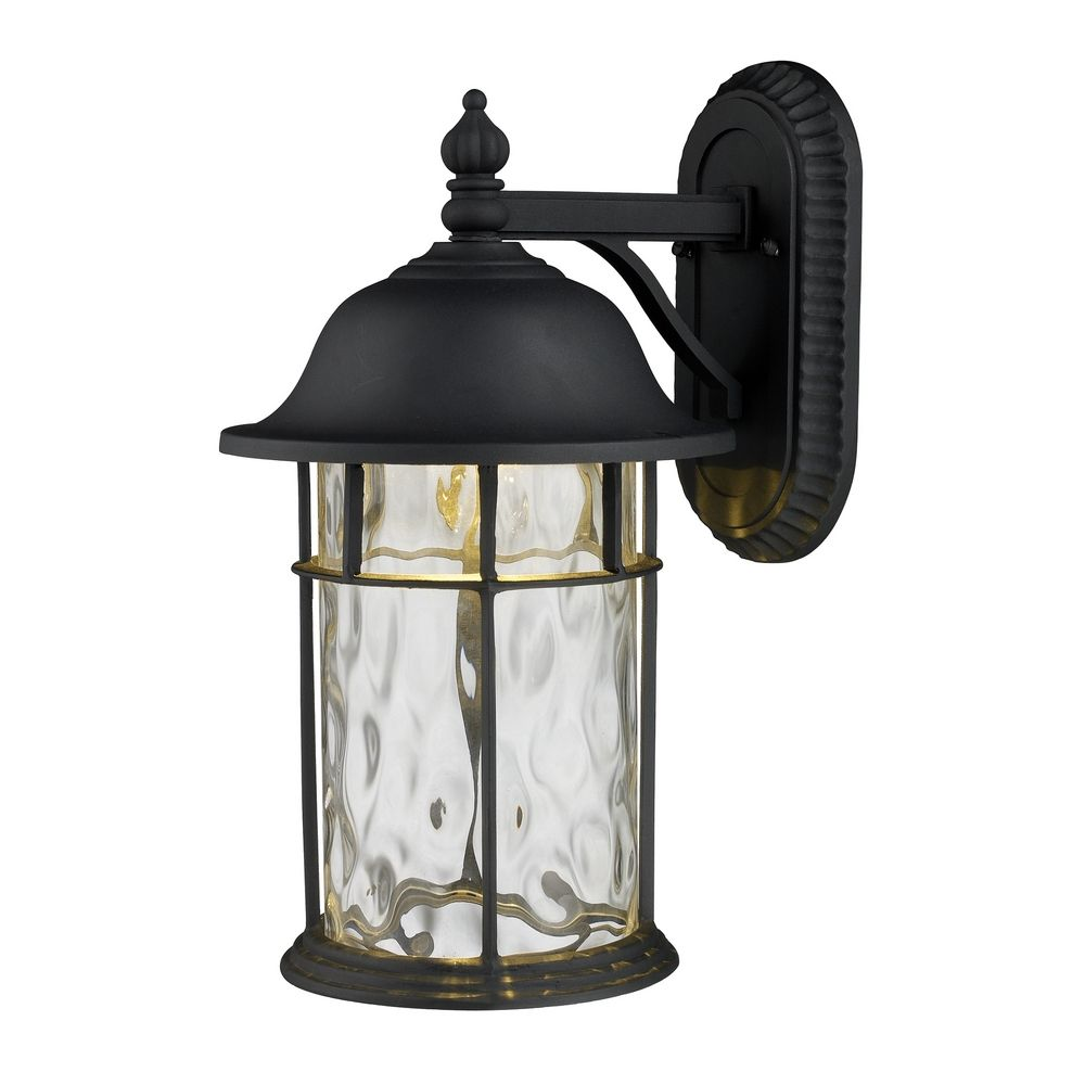 Led Outdoor Wall Light With Clear Glass In Matte Black