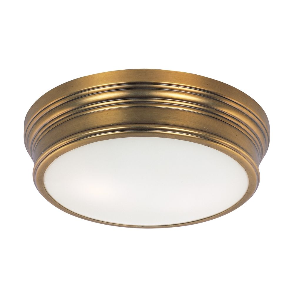 Brass Finish Ceiling Lights : Nautical ceiling light in natural aged brass finish
