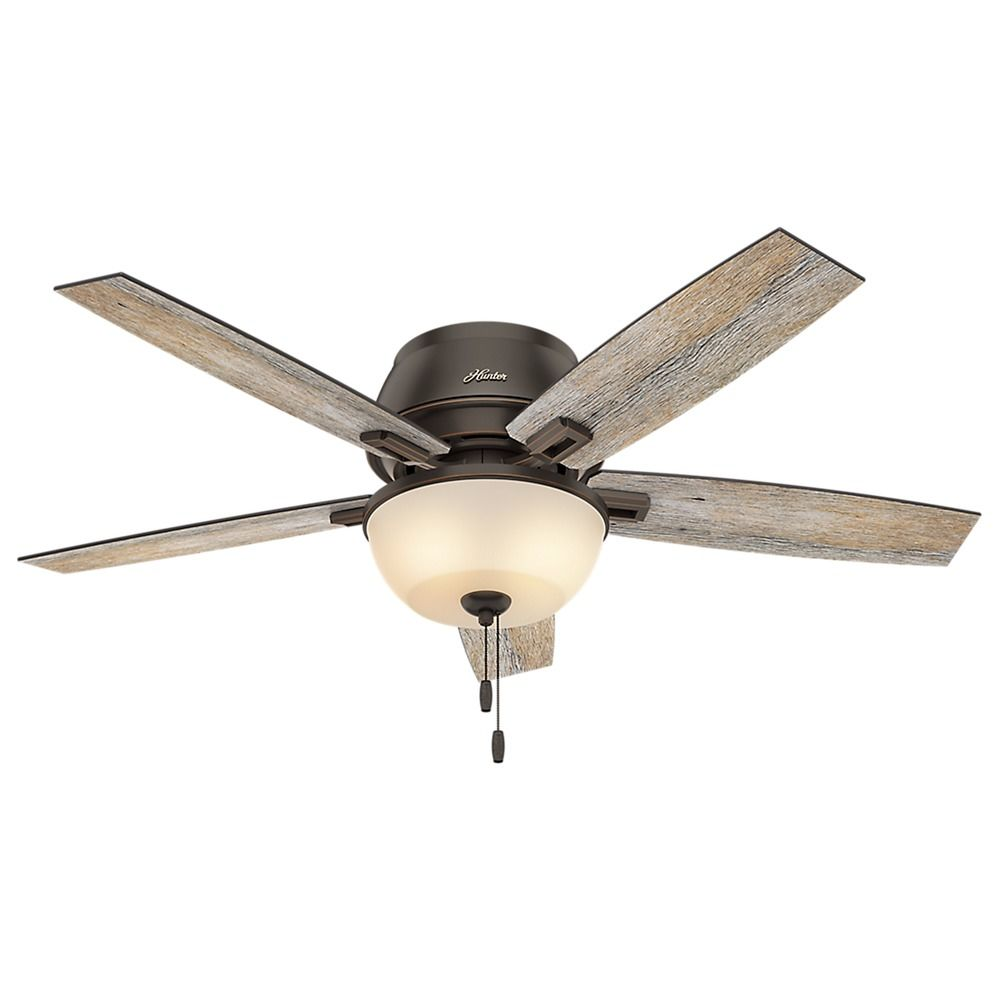 Hunter Low Profile 52 Led Ceiling Fan At Menards: 52-Inch Hunter Fan Donegan Low Profile Onyx Bengal LED