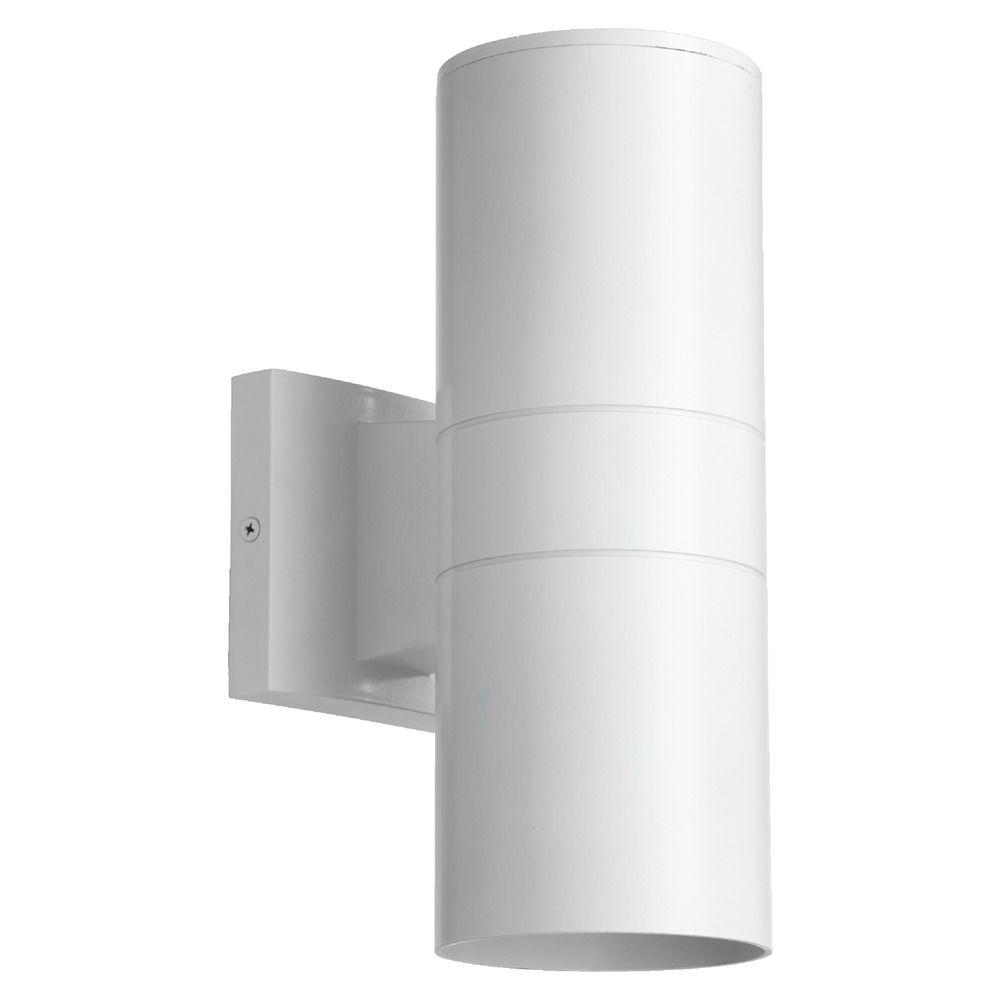 Quorum Lighting Studio White Outdoor Wall Light 720-2-8 Destination Lighting
